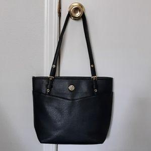 Anne Klein Black Vegan Leather Bag